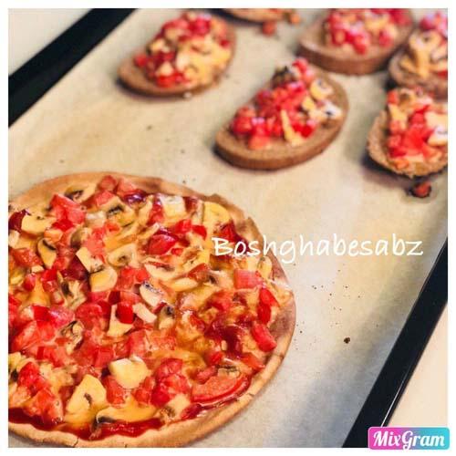 پیتزا پیتا وگان، پیتزا پیتا وگن، پیتزا پیتا گیاهی