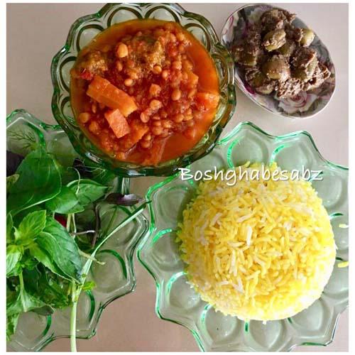 خورشت هویج گیاهی، خورشت هویج وگان، خورشت هویج وگن، خورش هویج
