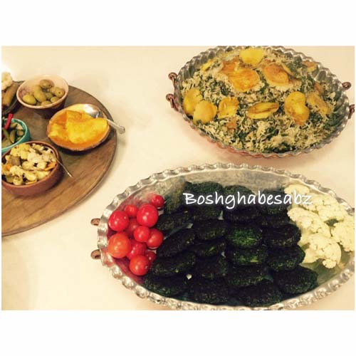 سبزی پلو وگان - کوکو سبزی وگان - کوکو سبزی گیاهی