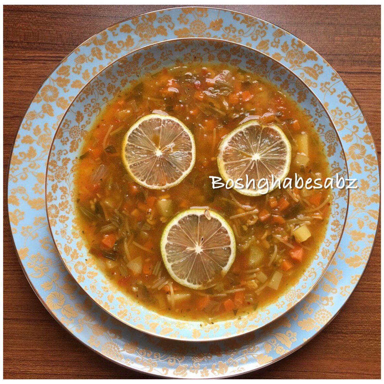سوپ رشته فرنگی گیاهی، سوپ رشته فرنگی وگان