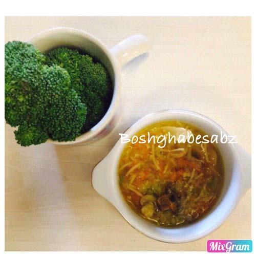 سوپ سبزیجات ورمیشل